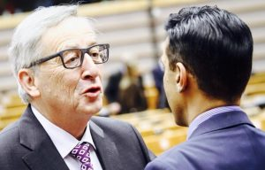 Jean-Claude Juncker et Younous Omarjee