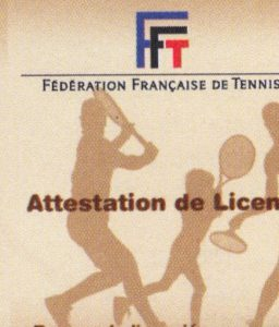 Tennis licence
