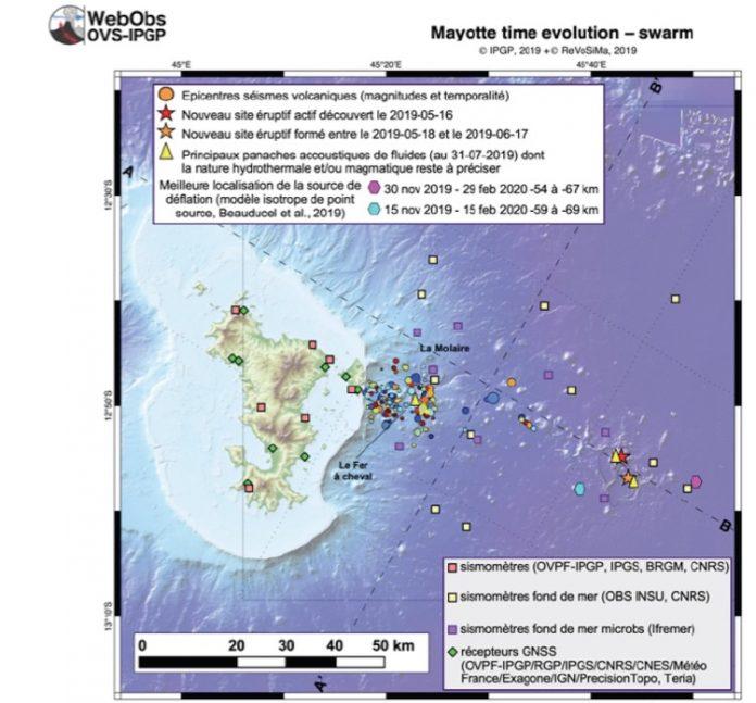 Séismes, volcan, REVOSIMA, BRGM, Mayotte