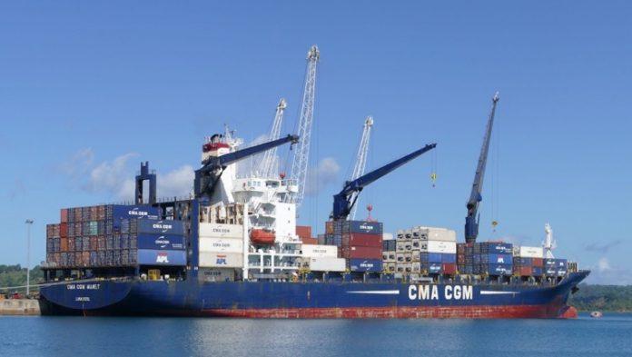 porte container, octroi de mer, outre-mer