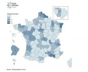 Santé publique France, clusters, France, covid, Mayotte